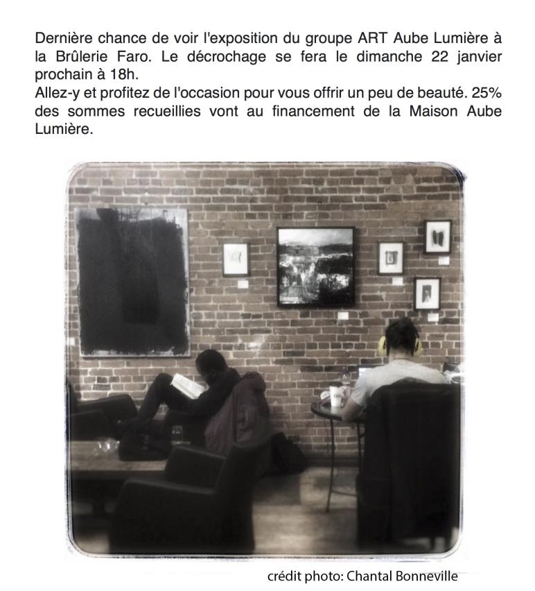 Exposition collective à la Brûlerie Faro de Sherbrooke
