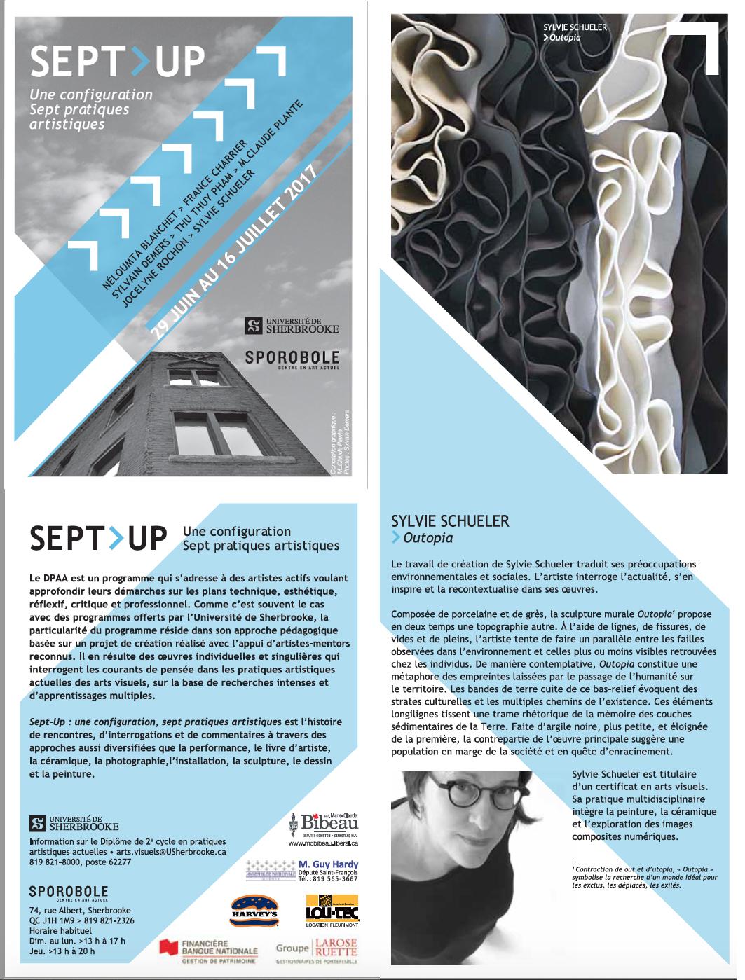 Opuscule - Sept Up - détail - 2017